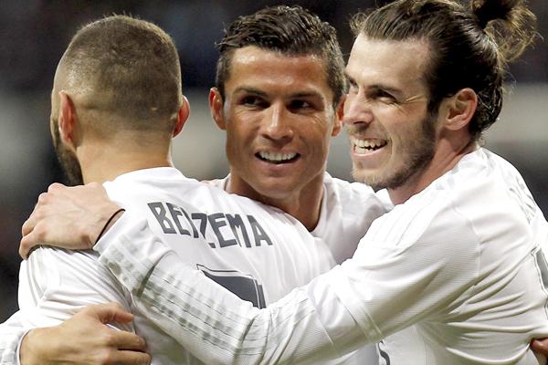 Keylor, Bale, Benzema y Ronaldo